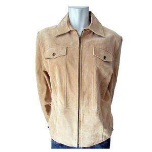 Utex Tan Suede Jacket Size Medium